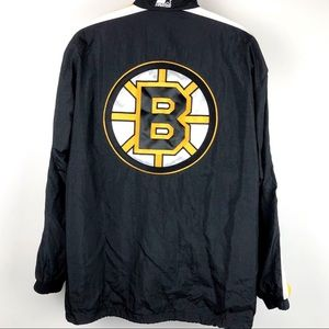 Vintage Starter Jacket 90s NHL Boston Bruins Light